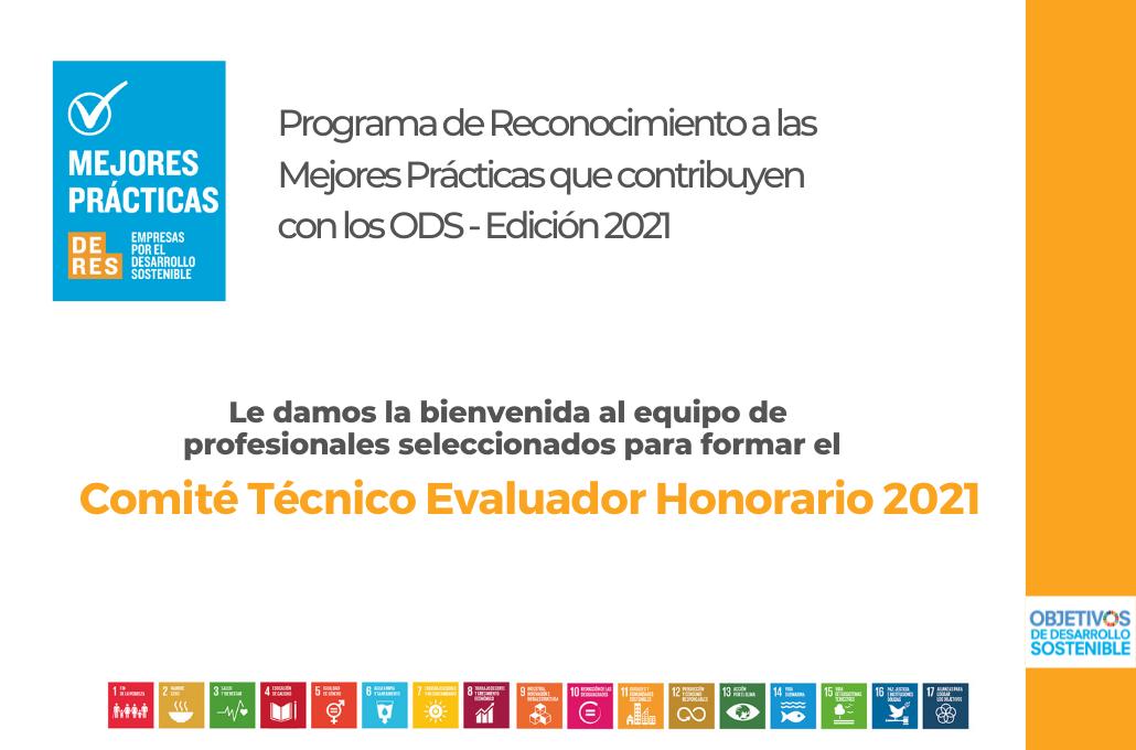 Taller para Consultores seleccionados: Comité Técnico Evaluador Honorario-Reconocimiento DERES ODS 2021